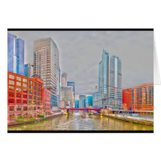 chicago downtown @ rivefront card
