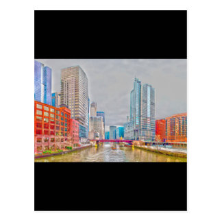 chicago downtown @ rivefront postcard