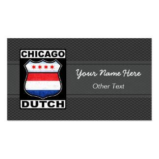 Chicago Dutch American Custom Business Cards