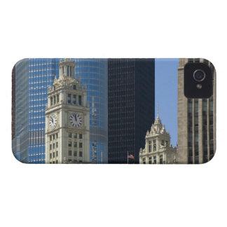 Chicago, edificio de Wrigley con el hotel del triu Case-Mate iPhone 4 Carcasa