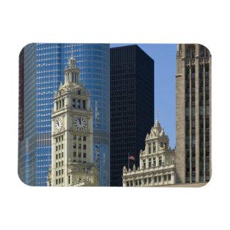 Chicago, edificio de Wrigley con el hotel del triu Imán Flexible