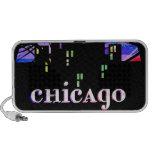 Chicago, el horizonte hermoso de la ciudad de la c notebook altavoces