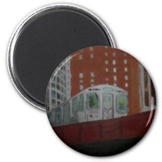 Chicago EL Train 2 Inch Round Magnet