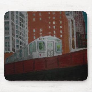 Chicago El Train Mouse Pad