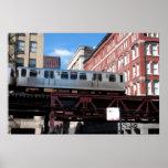 Chicago El Train Posters