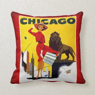Chicago el turismo ventoso del vintage de los almohadas