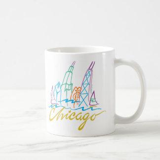 CHICAGO-EMB CLASSIC WHITE COFFEE MUG