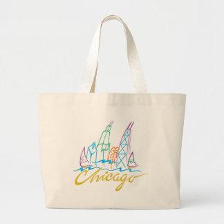 CHICAGO-EMB JUMBO TOTE BAG