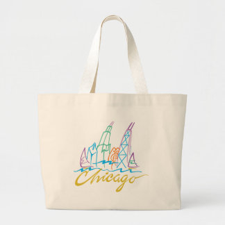 CHICAGO-EMB LARGE TOTE BAG