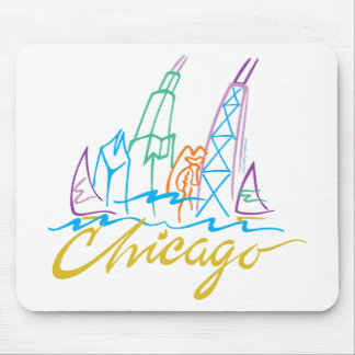 CHICAGO-EMB MOUSE PAD