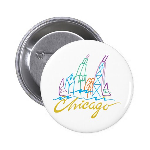 CHICAGO-EMB PINBACK BUTTONS