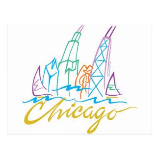 CHICAGO-EMB TARJETAS POSTALES