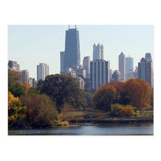 Chicago en la caída postales