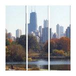 Chicago en la lona envuelta caída lona estirada galerías