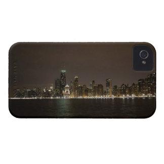 Chicago en la noche carcasa para iPhone 4