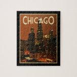 Chicago en la noche puzzle