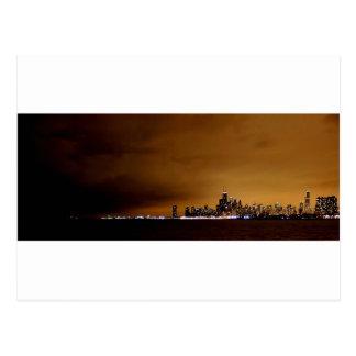 Chicago en la noche tarjeta postal