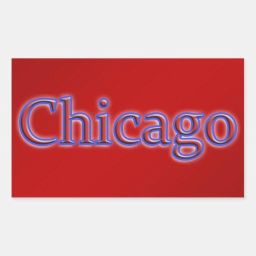 Chicago en rojo y azul - en rojo rectangular altavoces