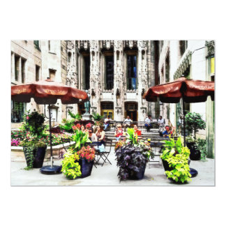 Chicago - Enjoying Lunch on the Magnificent Mile 5x7 Paper Invitation Card