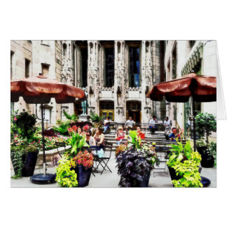 Chicago - Enjoying Lunch on the Magnificent Mile Greeting Card