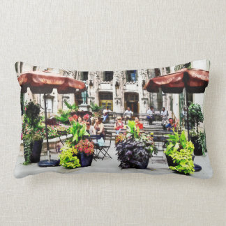 Chicago - Enjoying Lunch on the Magnificent Mile Lumbar Pillow