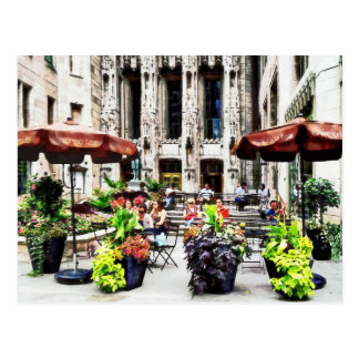 Chicago - Enjoying Lunch on the Magnificent Mile Postcard
