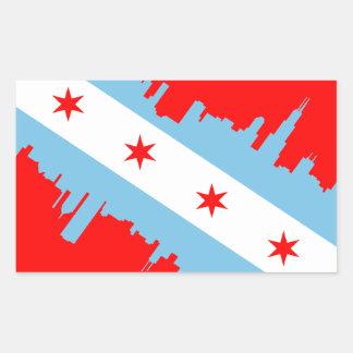 CHICAGO - EQUIPO DE SUBMARINISMO PEGATINA RECTANGULAR