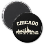 Chicago: Esta ciudad sopla Imán De Nevera