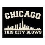 Chicago: Esta ciudad sopla Postal