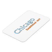 """Chicago Established 3""""x4"""" Flexible Magnet"""