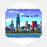 Chicago Etiqueta Redonda