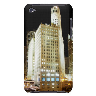 Chicago famous landmark at night Case-Mate iPod touch case