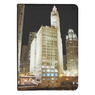 Chicago famous landmark at night kindle 4 cover
