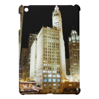 Chicago famous landmark at night case for the iPad mini
