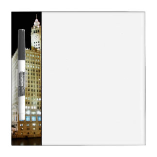 Chicago famous landmark at night Dry-Erase boards