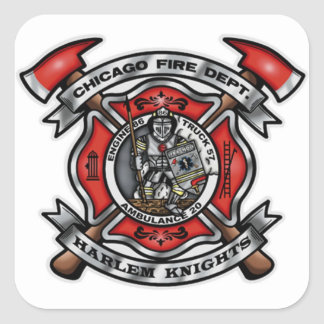 Chicago Fire Department/Harlem Knights E86 T57 A20 Square Sticker