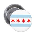 Chicago Flag 2 Inch Round Button