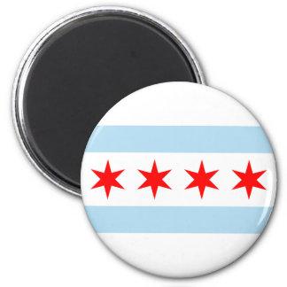 Chicago Flag 2 Inch Round Magnet
