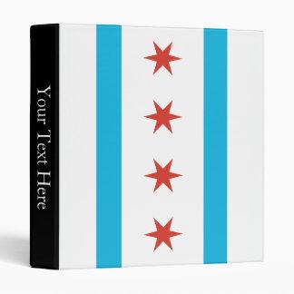 Chicago Flag 3 Ring Binder