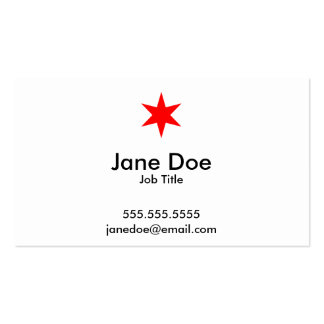 Chicago Flag 6-Pointed Star Business Card