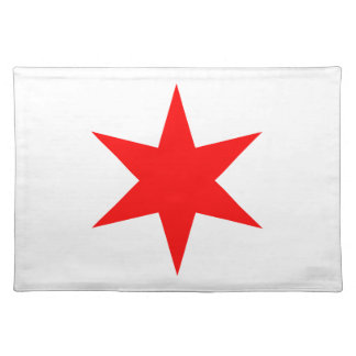 Chicago Flag 6-Pointed Star Cloth Placemat