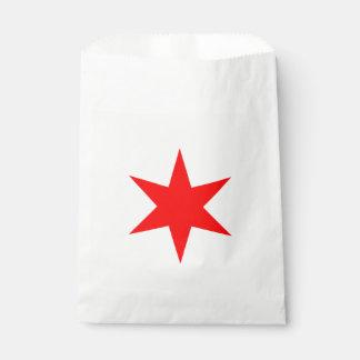 Chicago Flag 6-Pointed Star Favor Bag