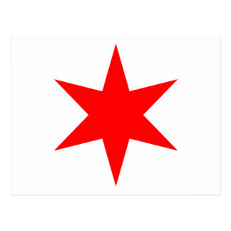 Chicago Flag 6-Pointed Star Postcard