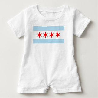 Chicago Flag Baby Romper