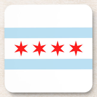 Chicago Flag Beverage Coaster