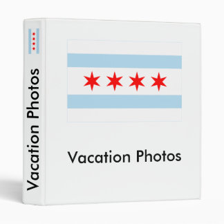Chicago Flag 3 Ring Binders