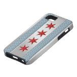 Chicago Flag Brushed Metal iPhone 5 Case