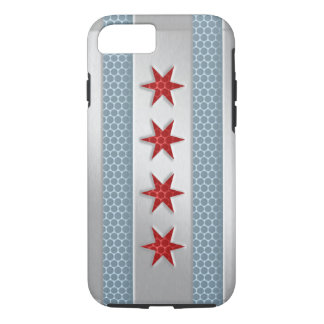 Chicago Flag Brushed Metal iPhone 7 Case