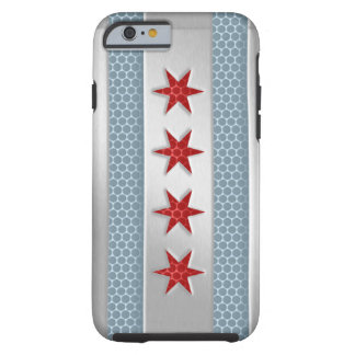 Chicago Flag Brushed Metal iPhone 6 Case
