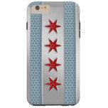 Chicago Flag Brushed Metal Look Tough iPhone 6 Plus Case